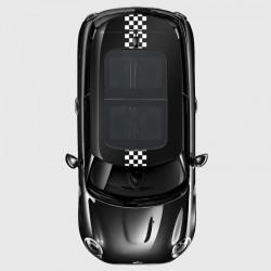 Stickers voiture toit hors toit ouvrant Mini bande damier large centrale petits carreaux