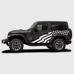 stickers drapeau tats unis pour jeep wrangler 3 portes. Black Bedroom Furniture Sets. Home Design Ideas