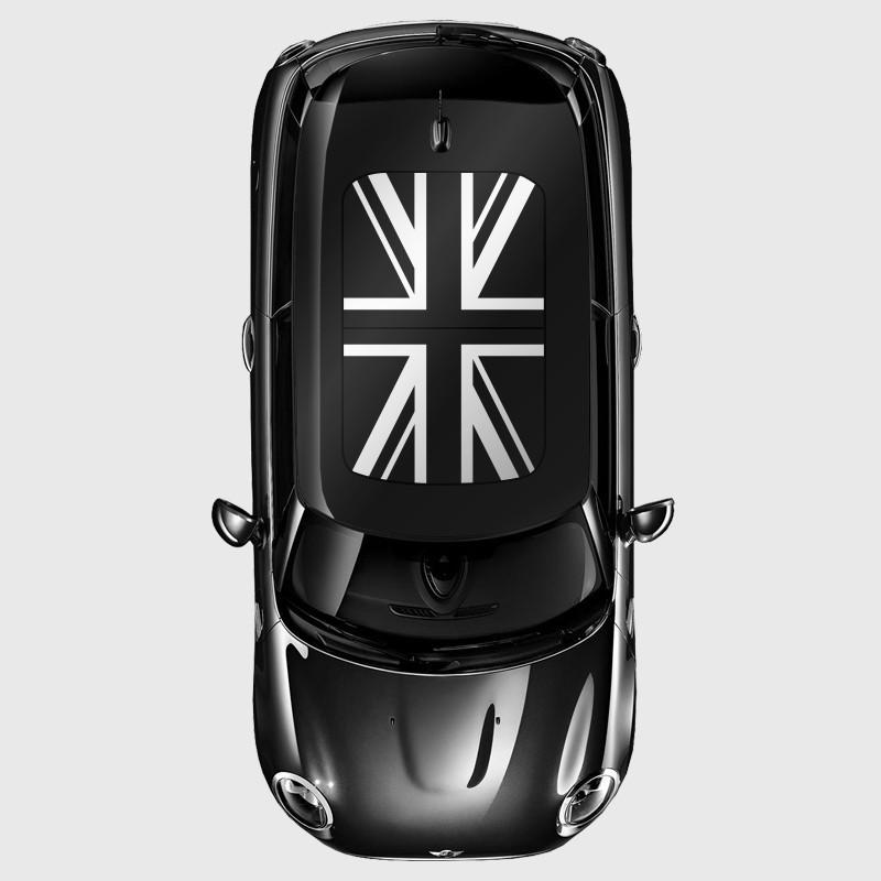 stickers adh sif drapeau anglais de toit ouvrant pour mini. Black Bedroom Furniture Sets. Home Design Ideas